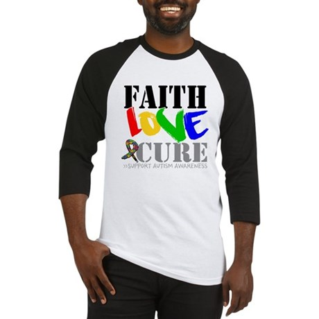 Faith Love Cure Autism Baseball Jersey