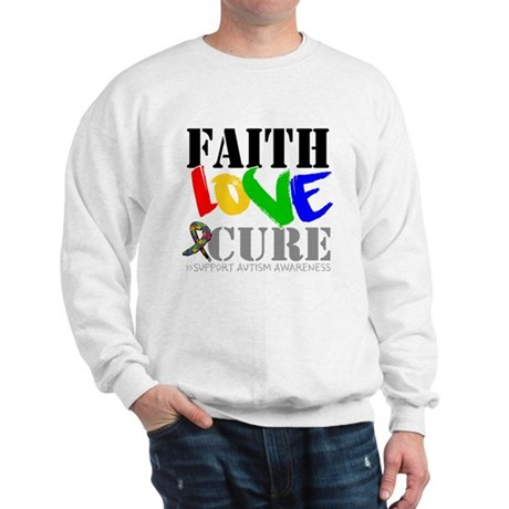 Faith Love Cure Autism Sweatshirt