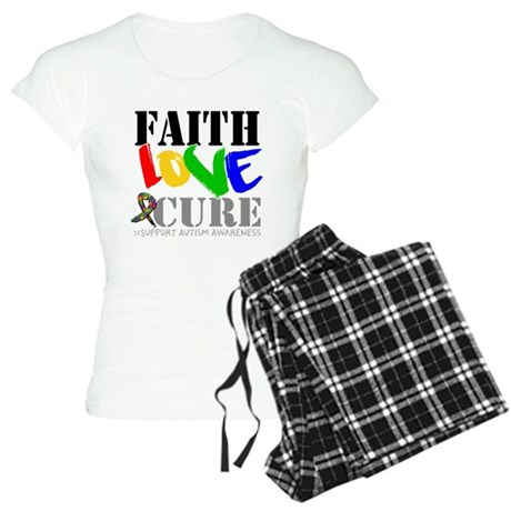 Faith Love Cure Autism Women's Light Pajamas