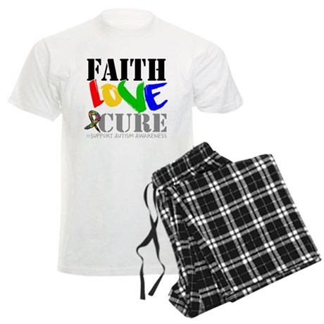 Faith Love Cure Autism Men's Light Pajamas