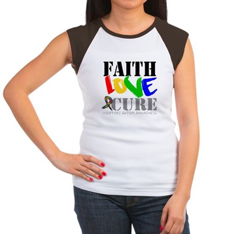 Faith Love Cure Autism Women's Cap Sleeve T-Shirt