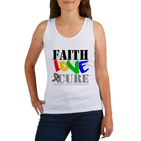 Faith Love Cure Autism Women's Tank Top