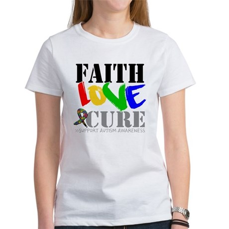 Faith Love Cure Autism Women's T-Shirt