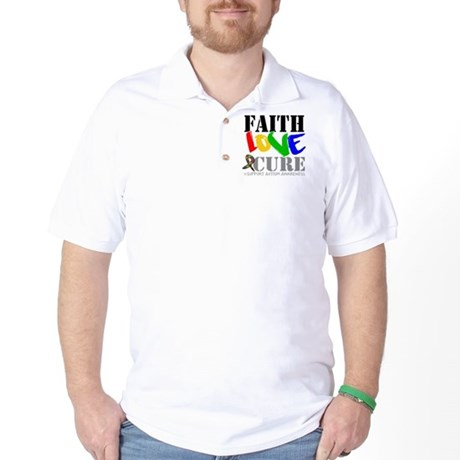 Faith Love Cure Autism Golf Shirt