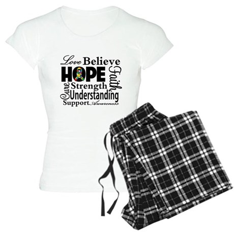 Love Believe Hope Autism Women's Light Pajamas