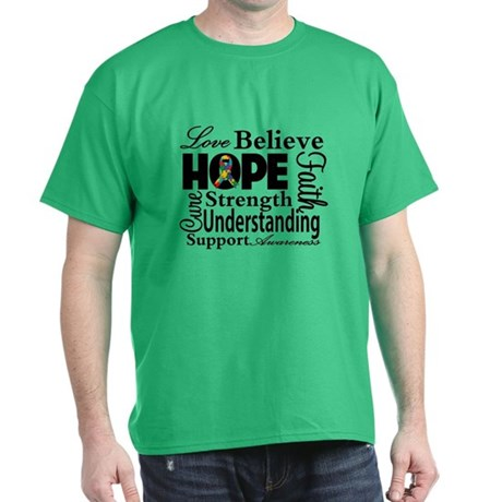 Love Believe Hope Autism Dark T-Shirt