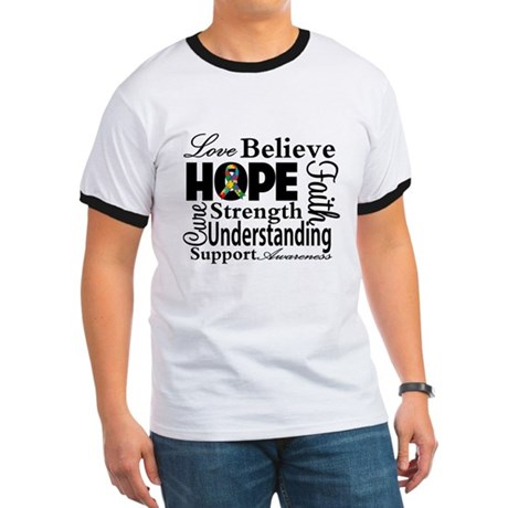 Love Believe Hope Autism Ringer T