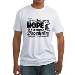 Love Believe Hope Autism Fitted T-Shirt
