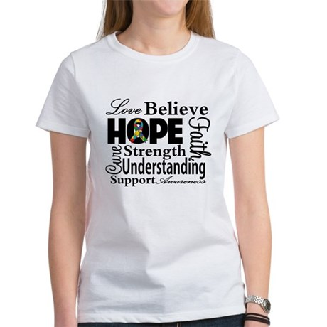 Love Believe Hope Autism Women's T-Shirt