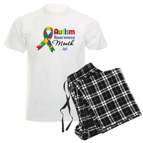 Autism Awareness Month Men's Light Pajamas