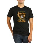 Wolf Paw Cutout Organic Men's Fitted T-Shirt