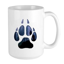 Wolf Paw Cutout Mug