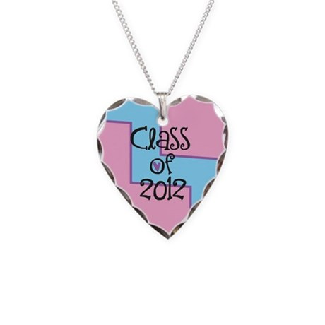 Class of 2012 Necklace Heart Charm