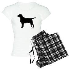 Black Lab Silhouette pajamas