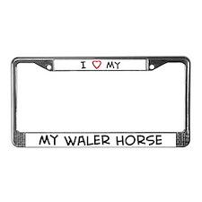I Love Waler Horse License Plate Frame