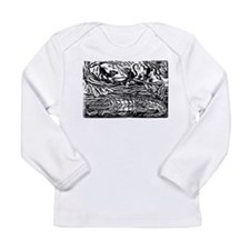 Monkeys and the Crocodile Long Sleeve Infant T-Shi