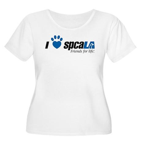 I Love spcaLA Women's Plus Size Scoop Neck T-Shirt