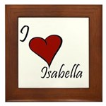 I love Isabella Framed Tile