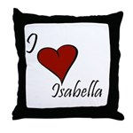 I love Isabella Throw Pillow