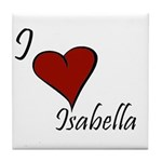 I love Isabella Tile Coaster