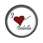 I love Isabella Wall Clock