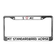I Love Standardbred Horse  License Plate Frame