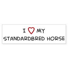 I Love Standardbred Horse Bumper Bumper Sticker