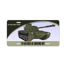 M-48 Patton Tank License Plate