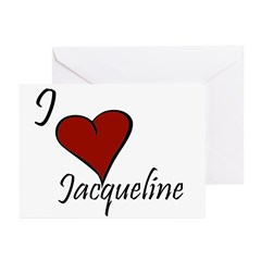 I love Jacqueline Greeting Cards (Pk of 10)