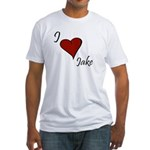 I love Jake Fitted T-Shirt