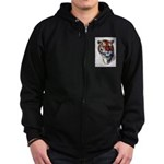Animal (Front) Zip Hoodie (dark)