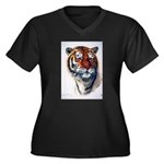 Animal (Front) Women's Plus Size V-Neck Dark T-Shi
