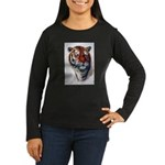 Animal (Front) Women's Long Sleeve Dark T-Shirt