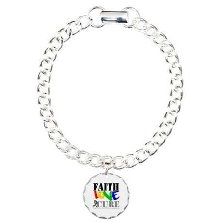 Faith Love Cure Autism Charm Bracelet, One Charm