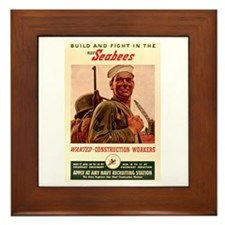 World War 2 Seabees Framed Tile