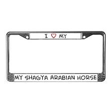I Love Shagya Arabian Horse License Plate Frame