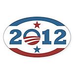 Obama 2012 Stars and Stripes Sticker (Oval)