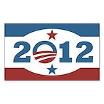 Obama 2012 Stars and Stripes Sticker (Rectangle)