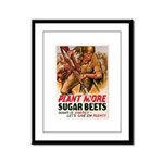 WW2 Sugar Beets Framed Panel Print