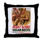 WW2 Sugar Beets Throw Pillow