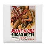 WW2 Sugar Beets Tile Coaster