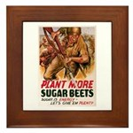 WW2 Sugar Beets Framed Tile
