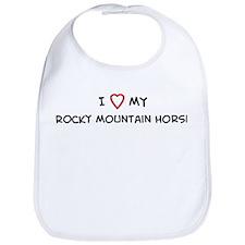 I Love Rocky Mountain Horse  Bib