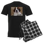 St Bernard Puppy Cookie Men's Dark Pajamas