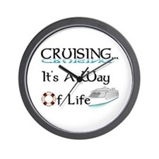 Cruising... A Way of Life Wall Clock