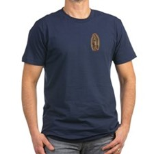 Our Lady of Guadalupe Men's Fitted T-Shirt (Dark)