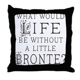 Bronte Quote Throw Pillow