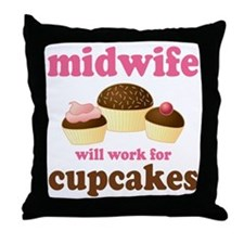 Funny Midwife Throw Pillow