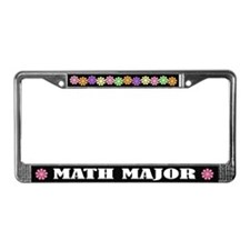 Math Major License Plate Frame