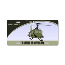 UH-1 Gunship License Plate